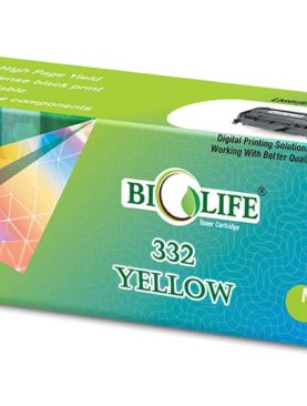 Biolife 332 Yellow Toner Cartridge Compatible For CANON LBP7780CX.