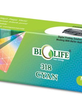 Biolife 318 Cyan Toner Cartridge Compatible For Canon LBP 7200Cd /Cdn LBP 7680Cx.
