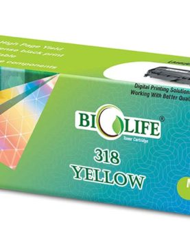 Biolife 318 Yellow Toner Cartridge Compatible For Canon LBP 7200Cd /Cdn LBP 7680Cx.