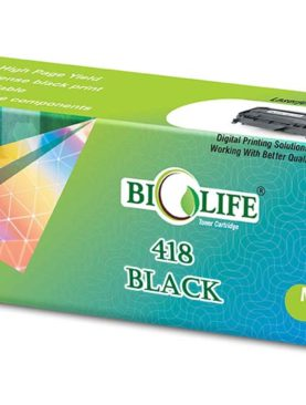 Biolife 418 Black Toner Cartridge Compatible For CANON MF 8350Cdn/MF 8380Cdw.