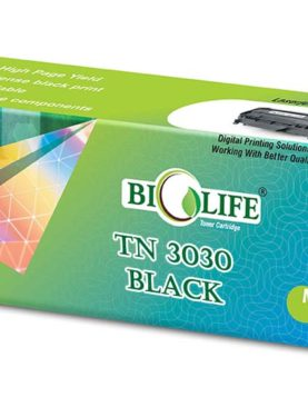 Biolife TN-3030 Black Toner Cartridge Compatible with Brother MFC-8220, MFC-8440, MFC-8840D, DCP-8040, DCP-8045D, HL-5130, HL-5140, HL-5150D, HL-5170DN