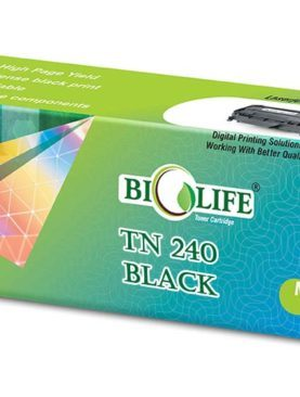 Biolife TN240 Black Toner Cartridge Compatible with Brother DCP-9010CN, HL-3040CN, HL-3045CN, HL-3070CW, MFC-9120CN, MFC-9320CW, MFC-9325CW