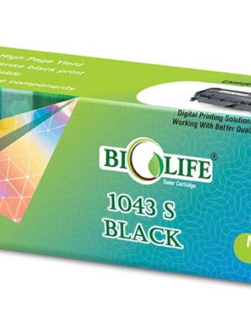 Biolife ML D1043S/XIP Black Toner Cartridge Compatible with Samsung 1043, MLT D1043S 1600, 1660, 1665, 1666, 1670, 1675, 1676, 1676P, 1860, 1865, 1865W, 1866, 1866W, Scx-3200, 3201, 3201G, 3205, 3205W, 3206W, 3218