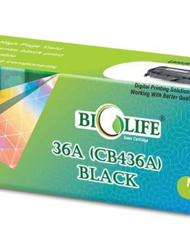 Biolife 36A - CB436A Black Toner Cartridge Compatible with HP All in One Printers LaserJet M1120, M1120n, M1522 MFP, M1522n MFP, M1522nf MFP, P1505, P1505n