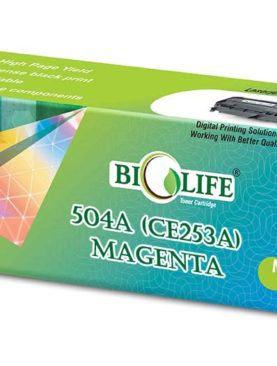 Biolife 504A - CE253A Magenta Toner Cartridge Compatible with HP All in One Printers Color LaserJet CM3530, CM3530fs, CP3525dn, CP3525n, CP3525x