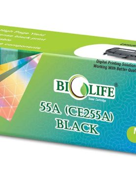 Biolife 55A - CE255A Black Toner Cartridge Compatible with HP All in One Printers LaserJet Enterprise 500 M525dn MFP, 500 M525f MFP, M525c, M521dn M, M521dwMFP, P3010, P3015, P3015d, P3015dn, 15n, P3015x, P3016