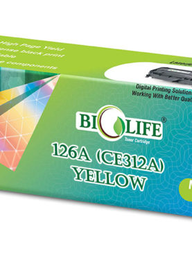 Biolife 126A - CE312A Yellow Toner Cartridge Compatible with HP Color LaserJet Pro 100 M175a MFP, 100 M175nw MFP, 200 M275nw MFP, CP1025nw