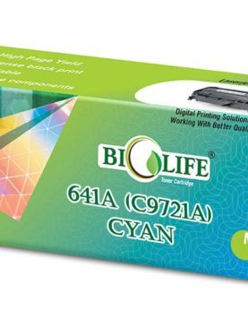 Biolife 641A / C9721A Cyan Compatible Toner Cartridge for HP Printer Laser Printers Color LaserJet 4600,4600 dn, 4600 dtn, 4600 hdn, 4600 n, 4610N, 4650, 4650 dn, 4650 dtn, 4650 hdn,4650 n