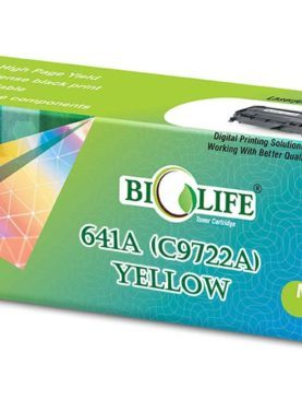 Biolife 641A / C9722A Yellow Compatible Toner Cartridge for HP Printer Laser Printers Color LaserJet 4600, 4600 dn, 4600 dtn, 4600 hdn, 4600 n, 4610N, 4650, 4650 dn, 4650 dtn, 4650 hdn, 4650 n