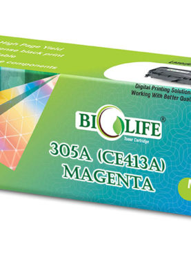 Biolife 305A/CE413A Compatible Toner Cartridge for HP All in One Printers Color LaserJet Pro 300 M375 MFP, 300 M375nw MFP, 400 M475 MFP, 400 M475dn MFP, 400 M475dw MFP, 300 M351, 300 M351a, 400 M451, 400 M451dn, 400 M451dw, 400 M451nw