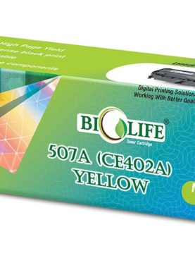 Biolife 507A / CE402A Yellow Compatible Toner Cartridge for HP Printer All in One Printers Color LaserJet Enterprise 500 M570dn, 500 M575dn, 500 M575f, M575c MFP, 500 M551dn, 500 M551n, 500 M551xh