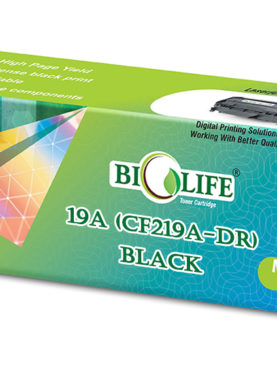 Biolife 19A/CF219A Black Compatible Drum Unit for HP Printer M130a, M130fn, M130fw, M130nw, M102a, M102w